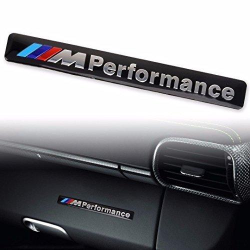 M Performance Car Logo Hood Decal Sticker Emblem for All BMW Black