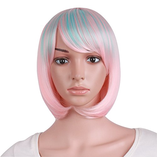Hearty 28 Long Straight Wigs For Women Heat Resistant Falt Bangs Natural Ombre Wig Cosplay Costume Party Synthetic Hair Mapofbeauty Convenience Goods Hair Extensions & Wigs Synthetic None-lacewigs