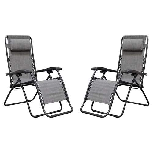 Zero-Gravity Chair Beige Lunch Break Portable Beach Chair Sterling Fabric Outdoor Chair Reinforced Lounge Chair 440 Lbs
