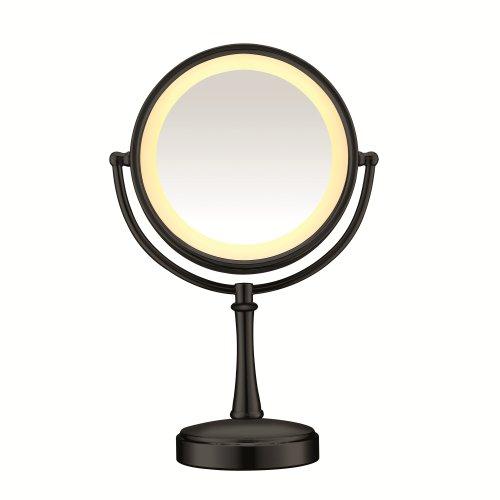 Lighted Vanity Makeup Mirror; 1x/7x magnification; Matte ...